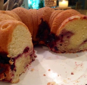 Blackberry Pound Cake